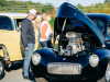 a Willy's engine on display at CPR's and EMc's Oktoberfest cruise in