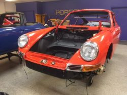 1968 Porsche 912 in the assembly room