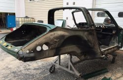 1970 Porsche 911T Targaduring disassembly