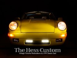 the finished Hess Custom yellow Porsche