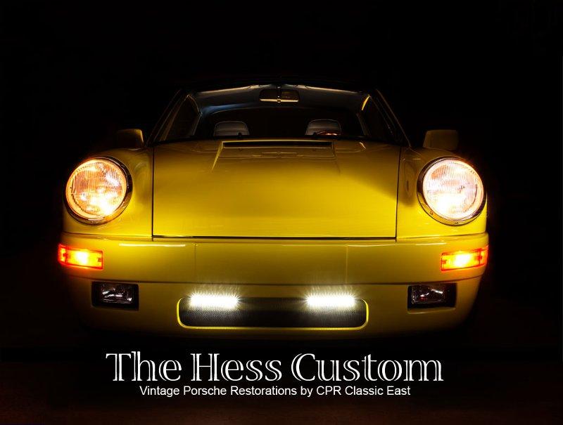 the finished Hess Custom yellow Porsche